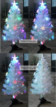 in stock 36 christmas rainbow color changing fiber optic lights tree