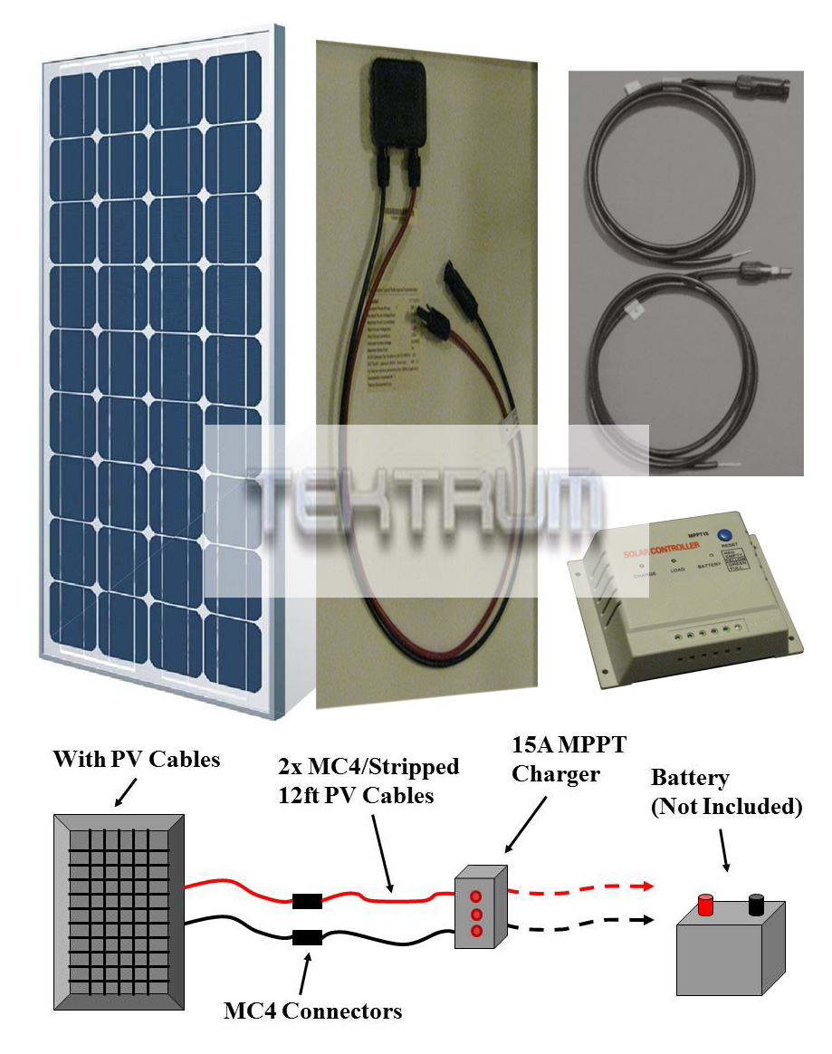 Solar Pv Cables Power Kit Wiring And Connections Mppt 30a 12v 24v Panel Charge Controller 30 Boost
