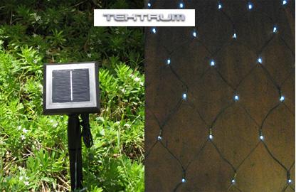 Outdoor net lighting tektrum 82 ft long 33 ft wide 150 white led two in aloadofball Gallery